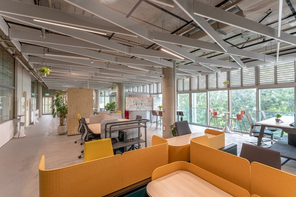 The facility will have sensors fitted throughout the indoor space — including overhead ventilation to measure air flow, and on furniture that provides insights on occupants' alertness level.