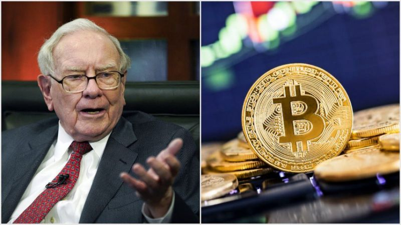 Warren Buffett may not be a fan of crypto, but he might have bitcoin to thank for his top three performing stocks in 2019. | Source: (i) AP Photo/Nati Harnik, File (ii) Shutterstock; Edited by CCN