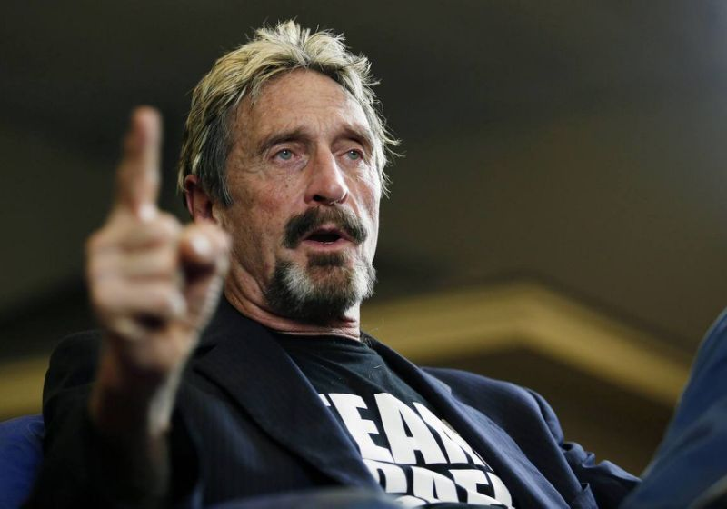 John McAfee is railing against Facebook's Libra coin, likening its