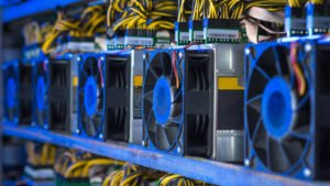a crypto mining rig