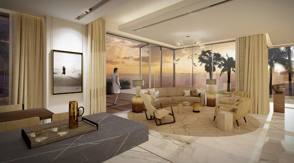 An artist interpretation of Palm Villa by Ellington Properties