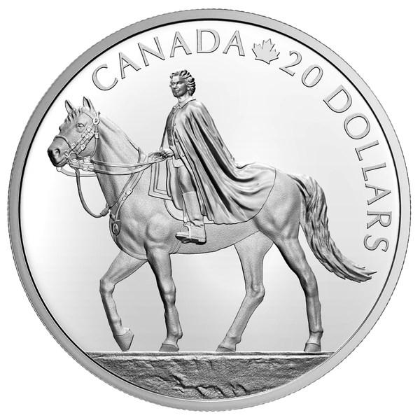 加拿大皇家铸币厂发行银币庆祝女王95岁生日(反面)