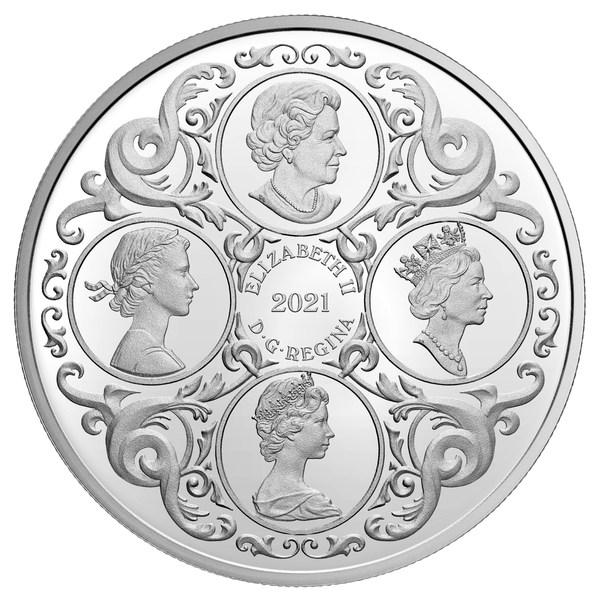 加拿大皇家铸币厂发行银币庆祝女王95岁生日(正面)