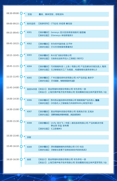 图:2021中国呼叫中心及企业通信大会日程表