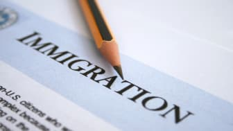 picture of a pencil on an immigration form