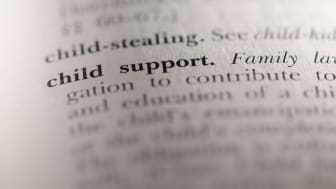 """picture of dictionary focusing on definition of """"child support"""""""