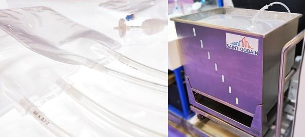 圣戈班首次公开展出的本地化生产2D3D生物储液袋
