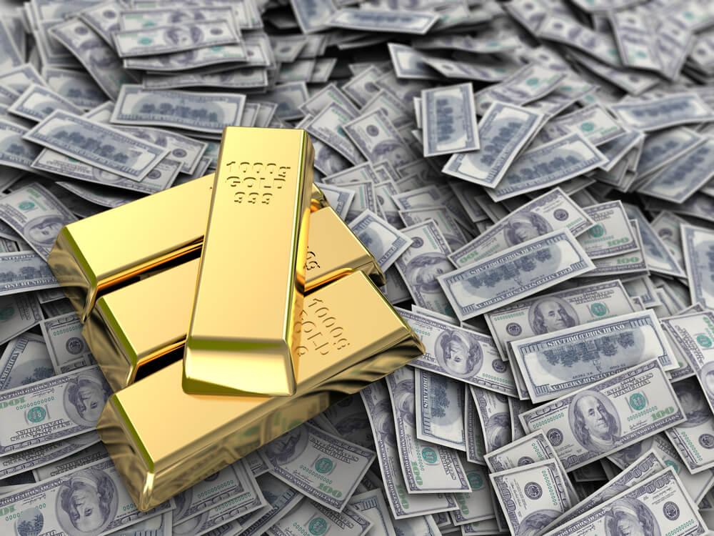 gold vs. dollar gold price action gold mining stocks gold surge