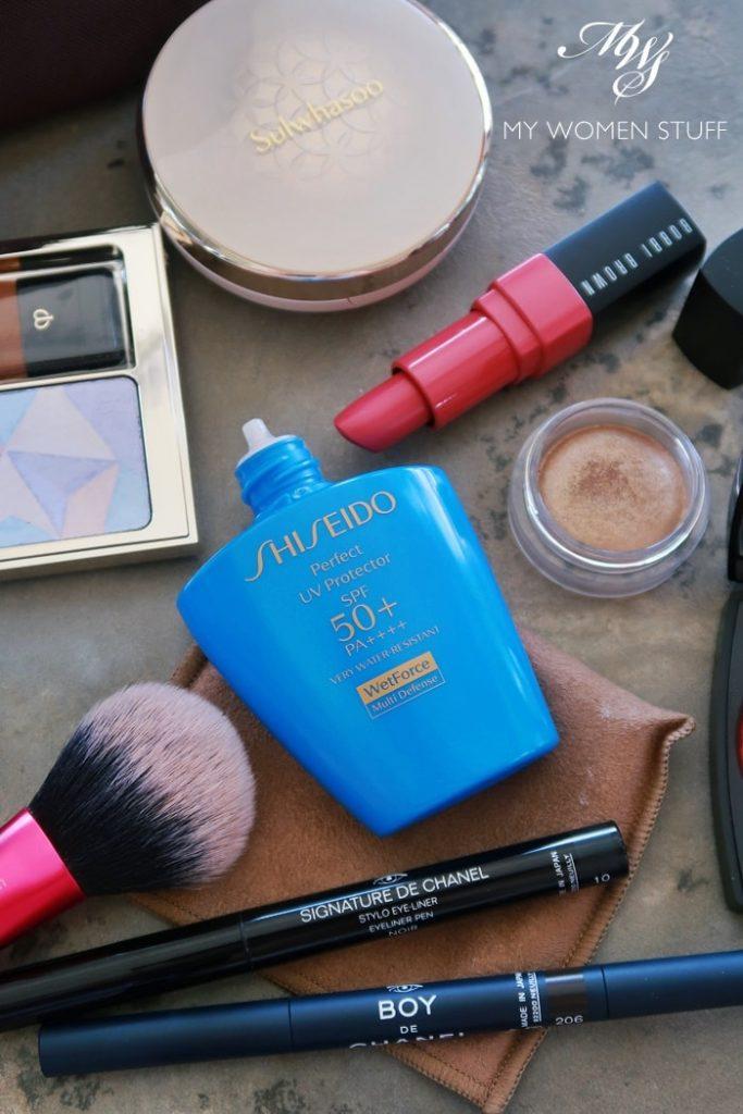 shiseido perfect UV protector wetforce multi-defense sunscreen